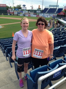 Me and Mom at Hadlock Field before the race!
