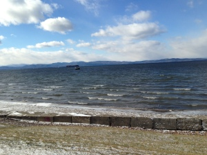 The Vermont side of Lake Champlain